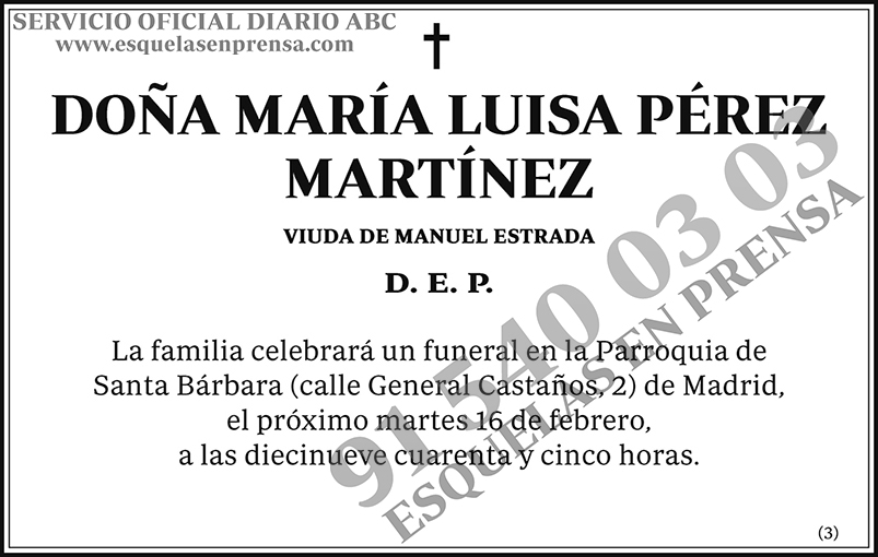 María Luisa Pérez Martínez